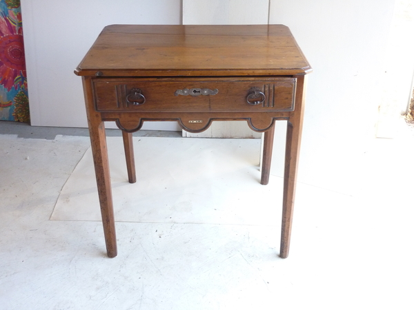 18th Century French Walnut End Table