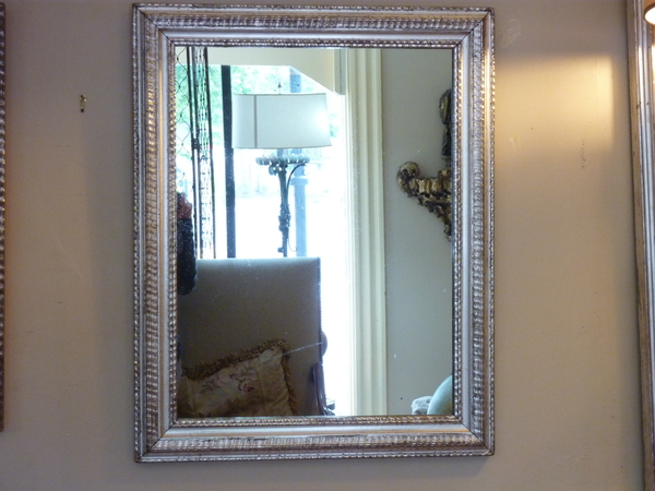 19th Century Silverleafed Ripple Mirror