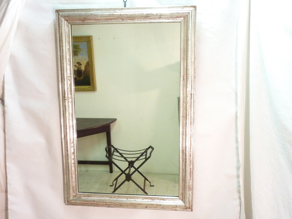 Rectangular Silver Leaf Mirror
