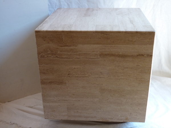 Travertine Cube Table