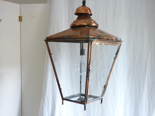 English Copper Lantern