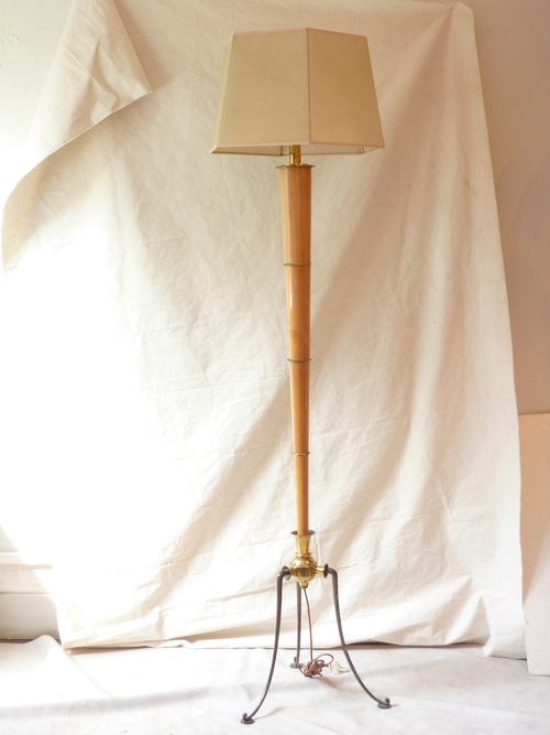 French Faux Bamboo Floor Lamp