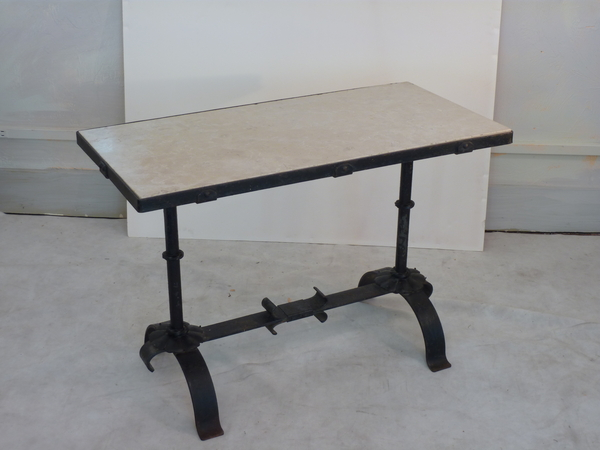 Iron and Marble Low Table