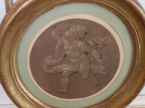 19th Century Pair Grisaille Drawings