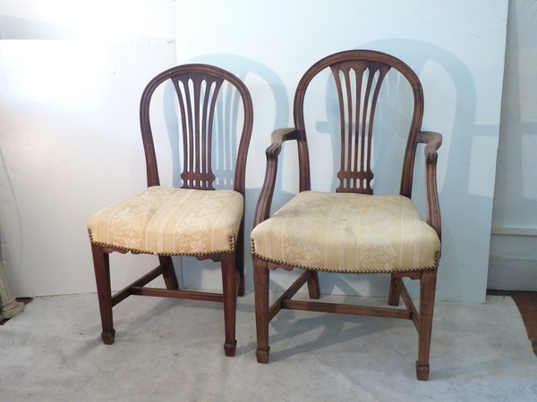Six English Dining Chairs